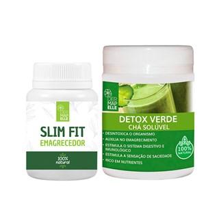 COMBO | Slim Fit Emagrecedor 355mg + Chá Solúvel Detox Verde 100g