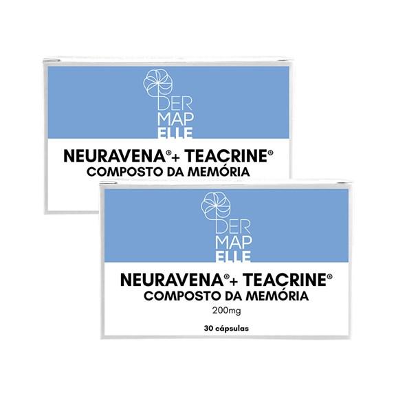 COMBO   Teacrine + Neuravena - Composto da Memória (2 Unidades)