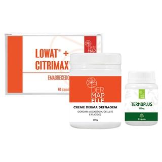 COMBO | Termoplus + Creme Corporal para Drenagem + Lowat com Citrimax Emagrecedor