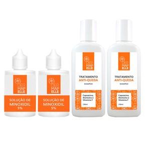 COMBO | Trichotech Solução de Minoxidil 5% (2un) + Shampoo Anti-Queda Capsaicina (2un)