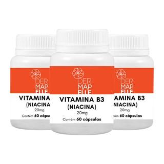 COMBO| Vitamina B3 (Niacina) 20mg (3 Unidades)
