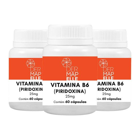 COMBO| Vitamina B6 (Piridoxina) 25mg (3 Unidades)
