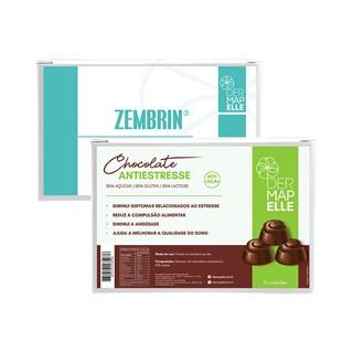 COMBO Zembrin Cápsulas da Felicidade + Chocolate Antiestresse