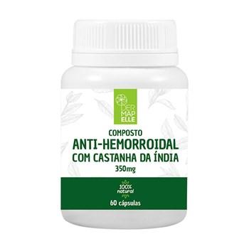 Composto Natural Anti-Hemorroidal com Castanha da Índia 350mg 60 Cápsulas