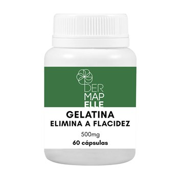 Gelatina - Elimina a Flacidez 500mg 60 Cápsulas