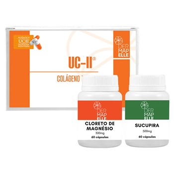 Sucupira 500mg + Cloreto de Magnésio 300mg + UCII - Colágeno Tipo II