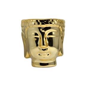 Produto Vaso para Plantas Cabeça de Buda Dourado