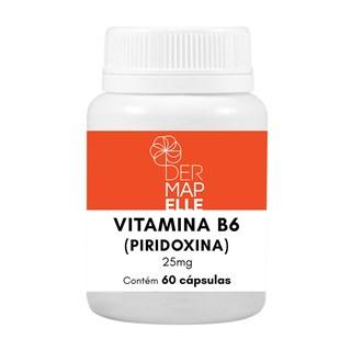 Vitamina B6 (Piridoxina) 25mg 60 Cápsulas